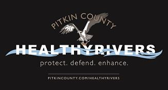 Pitkin County Healthy Rivers Logo with Image of Osprey
